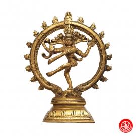 Shiva Nataradja en laiton doré (h18.5cm)