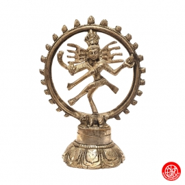 Shiva Nataradja en laiton argenté (h14cm)