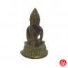Bouddha ShAKYAMUNi en laiton vert-de-gris (h8cm)