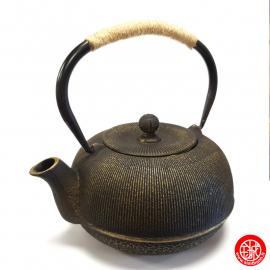 Théière en fonte chinoise MiZO 0.65L noir et or