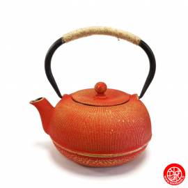 Théière en fonte chinoise MiZO 0.65L rouge et or