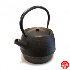 Théière en fonte chinoise GENDAi 0.80L noir et or