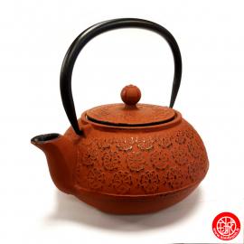 Théière en fonte chinoise FLEURS de CERiSiER 0.80L rouge