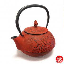 Théière en fonte chinoise PiVOiNES 0.80L rouge