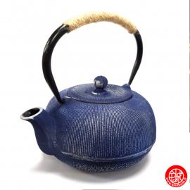 Théière en fonte chinoise MiZO 0.65L bleu et argent