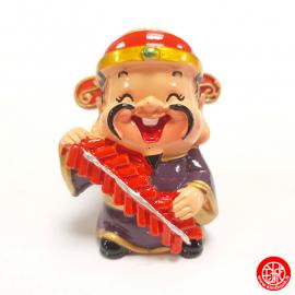 Dieu du BONhEUR 禧 kawaii en résine peint (h6cm)