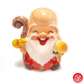 Dieu de la LONGéViTé 壽 kawaii en résine peint (h6cm)