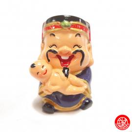 Dieu de la PROSPéRiTé 福 kawaii en résine peint (h6cm)
