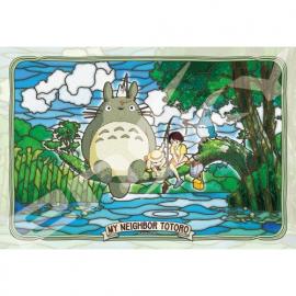 Puzzle vitrail Totoro© à la pêche 300 pièces - Mon Voisn Totoro©
