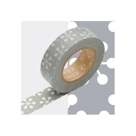 masking tape déco kesshou gray 15mm*10m