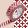 masking tape déco shippou beni (shippou rouge) 15mm*10m