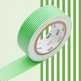 masking tape déco border green (lignes vertes) 15mm*10m