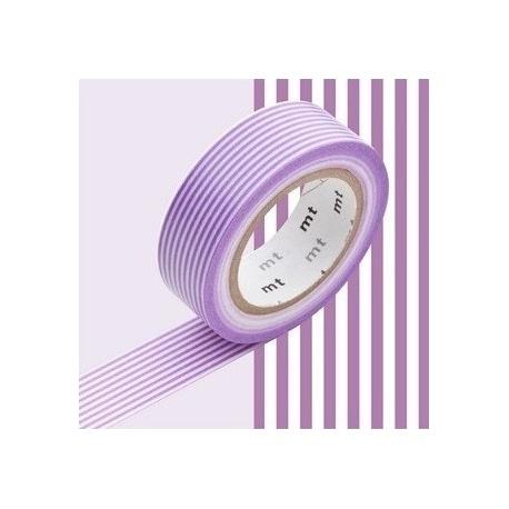 masking tape déco border purple (lignes violettes) 15mm*10m