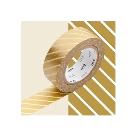 masking tape déco stripe gold (stries dorées L) 15mm*10m