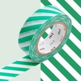 masking tape déco stripe green (stries vertes) 15mm*10m