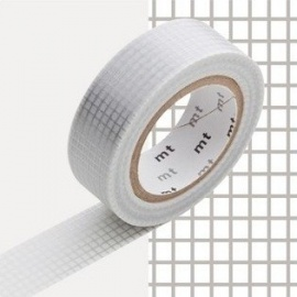 masking tape déco hougan silver (quadrillage argenté) 15mm*10m