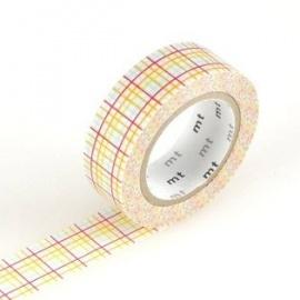 masking tape déco koushi red (quadrillages rouge) 15mm*10m