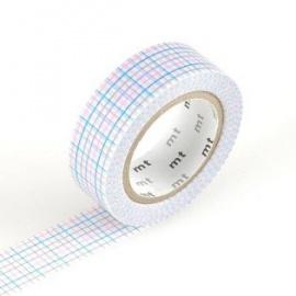 masking tape déco koushi blue (quadrillages bleu) 15mm*10m