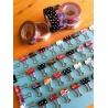 masking tape déco diamond vermilion (diamants vermillon) 15mm*10m