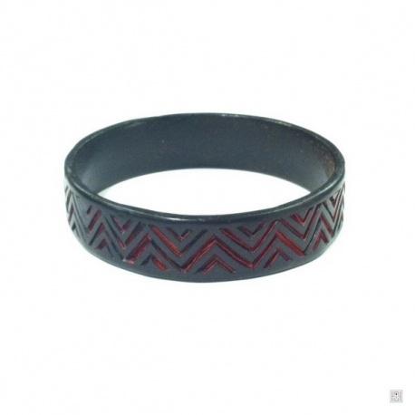 Bracelet ZiG ZAG en laque de Pékin