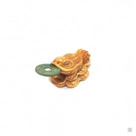 Chan'chu sur sapèques en os de buffle (L7cm)