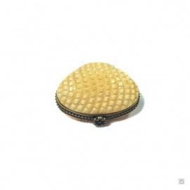 Boîte à pilules COQUiLLAGE en os de buffle