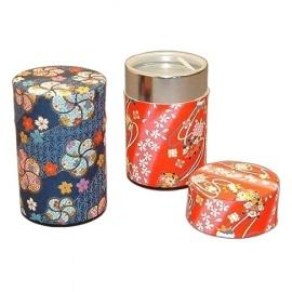 Boîte à thé japonaise (茶筒 chazutsu) papier washi ChiYOGAMi (100g)