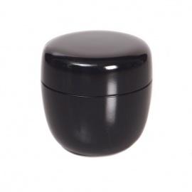 Natsume en bakélite noire (d6.5xh6.5cm)
