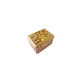 Boîte à secret (Himitsu-bako ~ ひみつ箱) 1.5 sun (4.5cm) ouverture en 14 étapes, motif Koyosegi