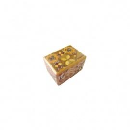 Boîte à secret (Himitsu-bako ~ ひみつ箱) 1.5 sun (4.5cm) ouverture en 4 étapes, motif Koyosegi