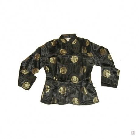 Veste brocard BONHEUR noir polyester
