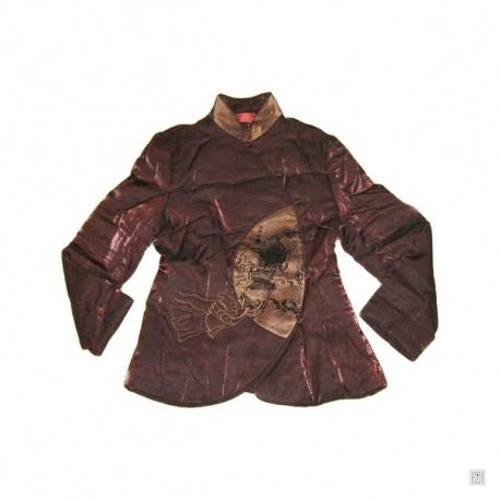 Veste matelassée PAYSAGE en médaillon marron