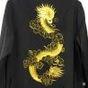 Veste chinoise doublée DRAGON BRODE doré polyester