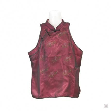 Gilet FLEURS brodées rose voile en soie