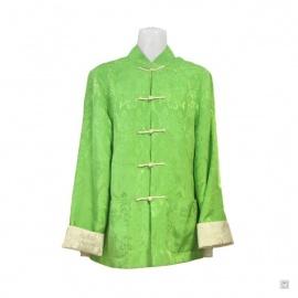 Veste réversible BONHEUR vert / ivoire