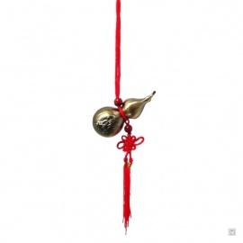 Amulette wulu (葫芦 : santé et protection) en métal cuivré (h8cm)