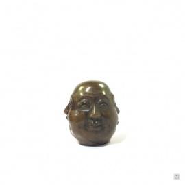 Tête de bouddha HOTEi 4 faces en bronze (h6cm)