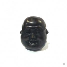 Tête de bouddha HOTEi 4 faces en bronze (h8.5cm)
