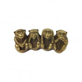 4 singes en cuivre (h5cm)