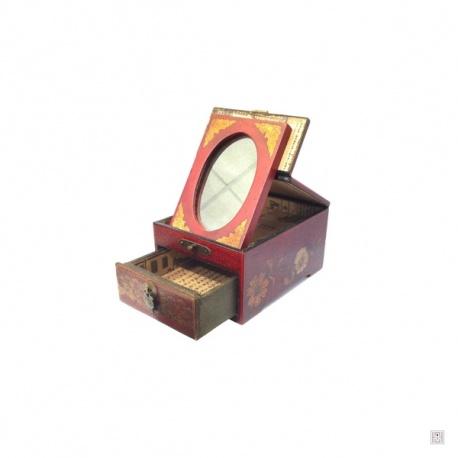 Boite a bijoux avec miroir maison design for Miroir coffret a bijoux
