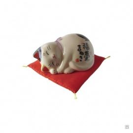 Maneki Neko 招き猫 DOUX RêVE en porcelaine japonaise (h4cm)