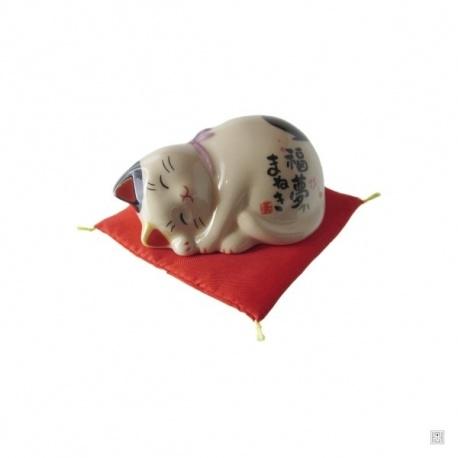 Maneki Neko DOUX RêVE en porcelaine japonaise (h4cm)