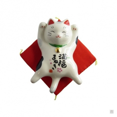 Maneki Neko SATiSFACTiON en porcelaine japonaise