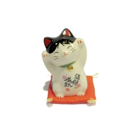 Maneki Neko 招き猫 ATTRACTiON en porcelaine (h7.5cm)