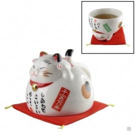 Chat-tasse en porcelaine japonaise