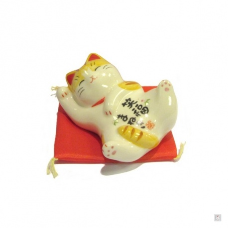Maneki Neko SATISFACTiON TiGRé en porcelaine japonaise