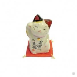 Maneki Neko FORTUNE en porcelaine japonaise (h7.5cm)