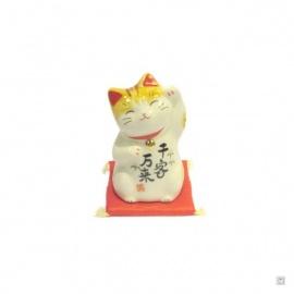Maneki Neko AMiTié en porcelaine japonaise (h7.5cm)