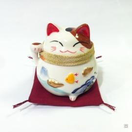 Tirelire Maneki Neko ChiRiMEN ChidORi en porcelaine (h9cm)