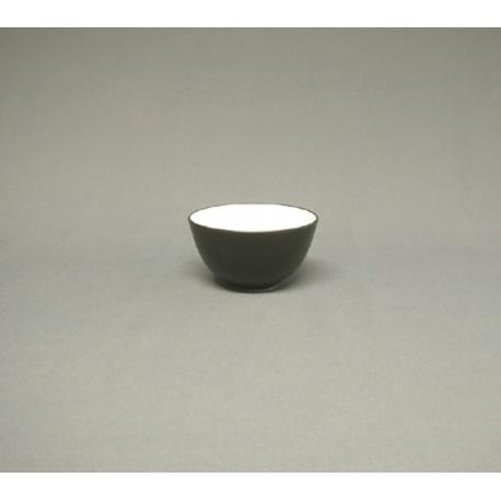 Bol à thé NOiR intérieur BLANC en céramique japonaise (d9.5cm)